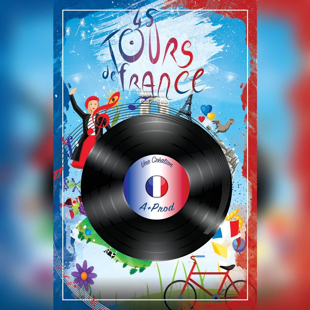 A+ Prod - 45 tours de France